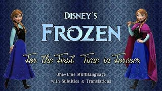 Frozen : For The First Time In Forever One Line