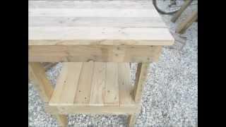 Mesa con madera de palets