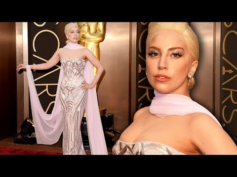 Lady Gaga on the Red Carpet Oscars 2014