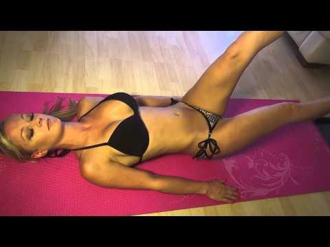 Stephanie Lynn Bernota Sexy Bikini Abs Home Workout