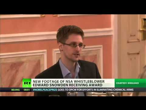 WikiLeaks releases video of Snowden in Moscow
