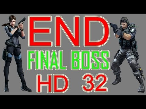 Resident Evil Revelations Ending + After Credits Ending + Final BOSS part 32 HD PS3 XBOX PC WIIU