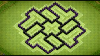 Clash Of Clans Epic Town Hall 7 Dark Elixir Farming Base