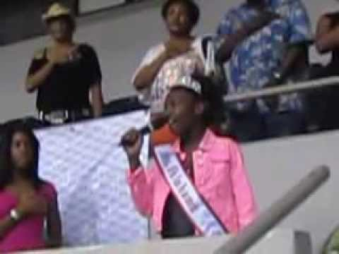 2013 NAMISS Oklahoma Jr. PreTeen sings National Anthem