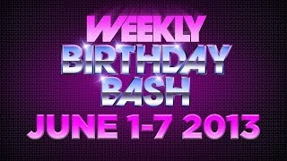 Celebrity Actor Birthdays - June 1-7, 2014 HD