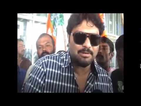 Babul Supriyo in Kolkata for Election campaign