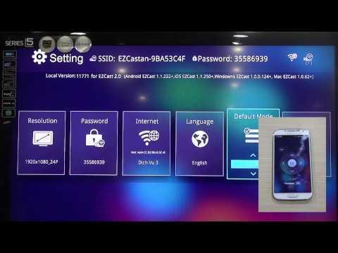 EzCast USB xuất hình lên TV  từ điện thoại Android