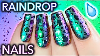 DIY Raindrop Multi-Chrome Nails