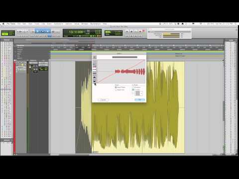 Using The Fade Function In Pro Tools 10