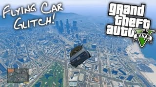 GTA V: Flying Car Glitch!!
