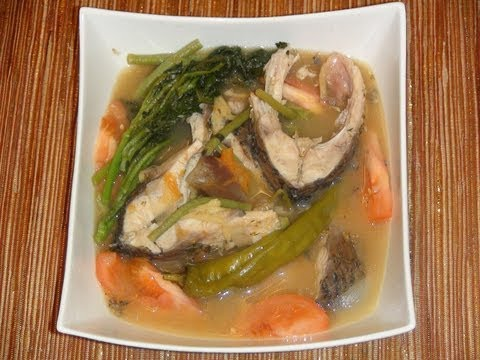 PINOY RECIPE - SINIGANG NA ISDA SA SAMPALOK AT MISO [CARP FISH SOUP WITH TAMARIND AND MISO]