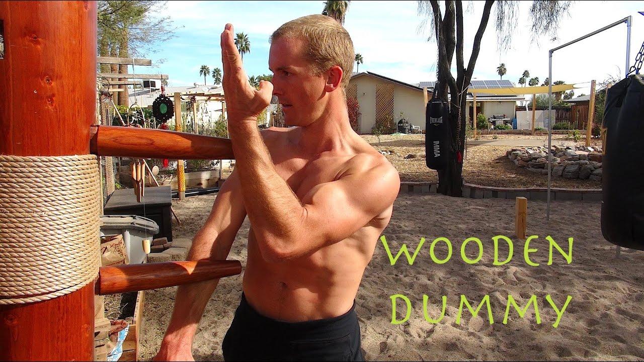 """Wing Chun WOODEN DUMMY Training - the New """"IP MAN"""" - Mook Yan Jong - Mu Ren Zhuang - YouTube"""