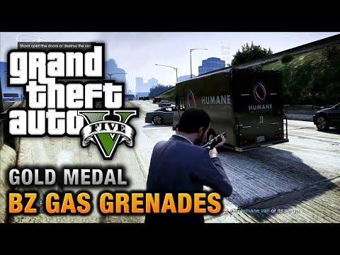 GTA 5 - Mission #15 - BZ Gas Grenades [100% Gold Medal Walkthrough]