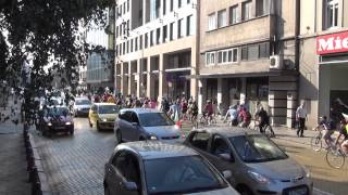 [Morning Bicyclers protest in Sofia in Full HD]