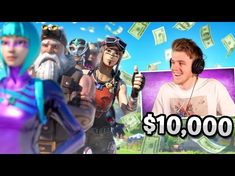 I STREAM SNIPED Lachlan's $10,000 Fortnite WORLD CUP FASHION SHOW...