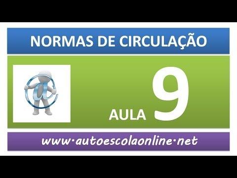 AULA 53 NORMAS DE CIRCULAÇÃO AUTO ESCOLA CURSO DE LEGISLAÇÃO DE TRÂNSITO SIMULADO DETRAN