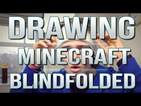 TDM Vlogs   DRAWING MINECRAFT BLINDFOLDED!   Episode 21