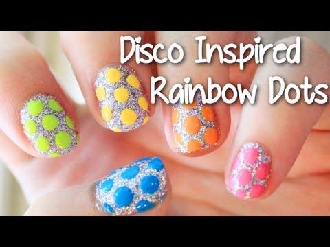 EASY Disco Inspired Rainbow Dots