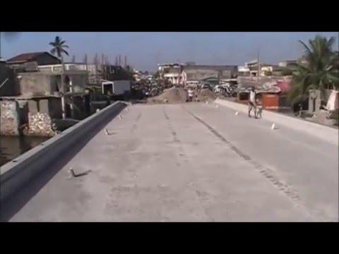 CAP-HAITIEN HAITI : Le nouveau pont de la rue 5 boulevard , Juillet 2015