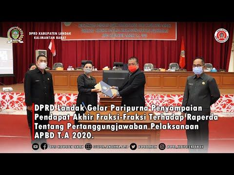 Pendapat Akhir Fraksi-Fraksi Terhadap Raperda Tentang Pertanggungjawaban Pelaksanaan APBD T.A 2020