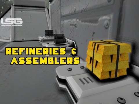 Space Engineers - Refineries & Assemblers Producing Components Part 30
