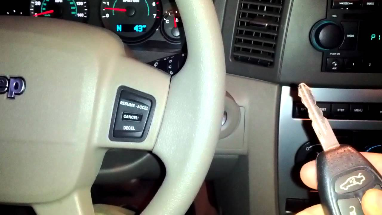 Jeep Grand Cherokee Laredo Hidden Remote Start - YouTube