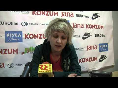 Marina Maljković posle pobede u Šibeniku