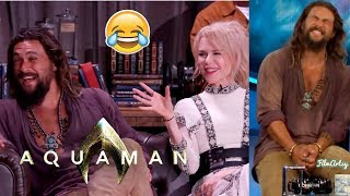 Aquaman Cast Funniest Moments | Jason Momoa Pulled a Prank on Amber Heard | 2018