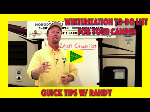 Winterization To-Do List for Your Camper | Pete's RV Service Tips