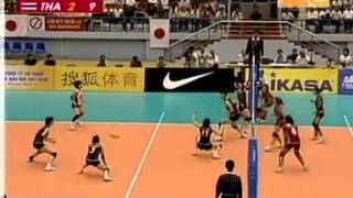 Set 4/4 : Thailand VS Japan Semi-Final 15th Asian Women's