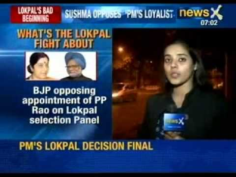 Lokpal Panel : BJP threatening to take the issue to the President - NewsX