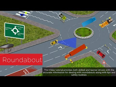 Roundabouts Driving lessons How To Negotiate Roundabout An Easy To Understand Full Explanations