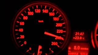 Разгон BMW 325i E90 c двигателем N52B25 130-260 км/ч