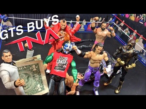 GTS WRESTLING: BUYING TNA! WWE Mattel Figure Matches Animation PPV Event!