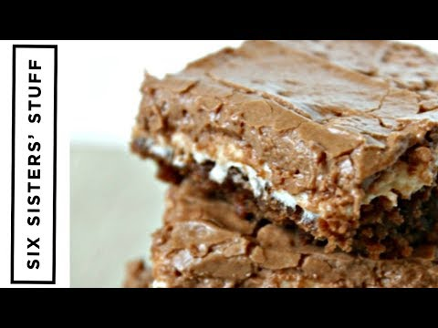 How to Make Mom's Famous Chocolate Marshmallow Brownies | Dessert | Six Sisters Stuff