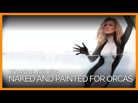 Naked and Painted Joanna Krupa Makes Point Against Orca Captivity