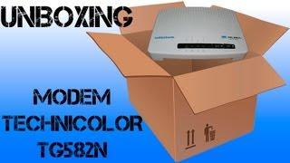 Unboxing Modem Infinitum Technicolor TG582n