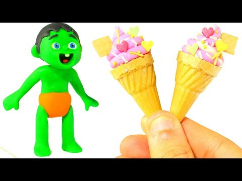 FUNNY KIDS POPPIN COOKING ICE CREAMS ❤  Play Doh Cartoons For Kids