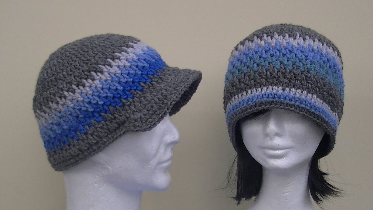 Crochet Patterns Youtube Hats : Brick Stitch Hat Crochet Tutorial - YouTube