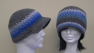 Brick Stitch Hat Crochet Tutorial