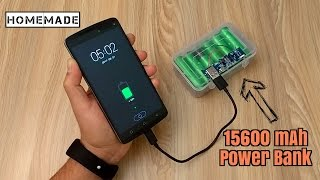 How to Make a 15600 mAh Power Bank from Scrap Laptop Battery - Homemade