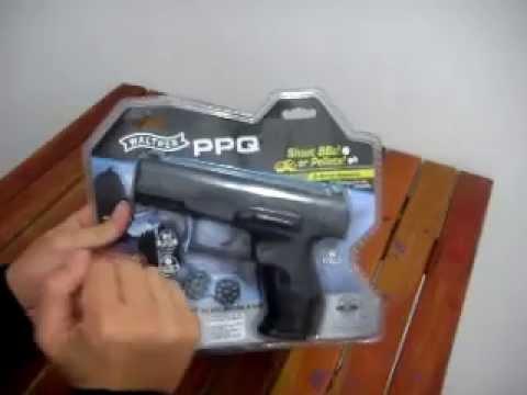 Pronta entrega Brasil Pistola Walther PPQ co2 BB e chumbinho semi-automatica 8 tiros