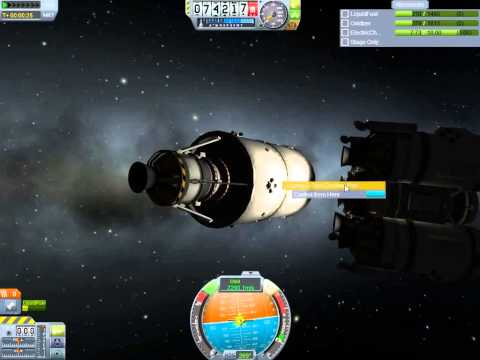 KSP  Mission to Duna Pt6  Docking the ship.