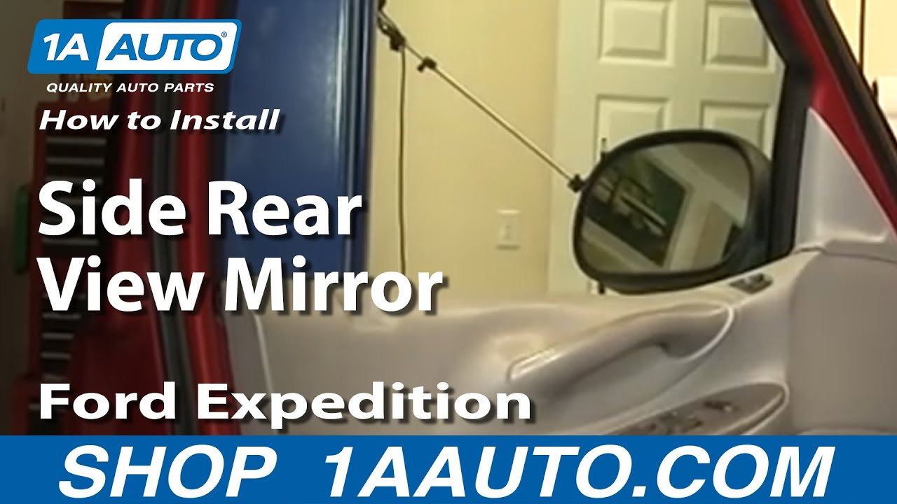 How To Install Replace Side Rear View Mirror Ford F