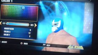 WWE All Stars How To Create Sin Cara