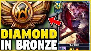 I TOOK MY DARIUS INTO BRONZE 5! DIAMOND DARIUS MAIN VS BRONZE ELO! - League of Legends