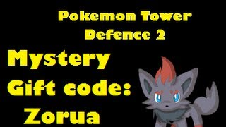 Pokemon Tower Defense 2 - Mystery Gift Code - Zorua