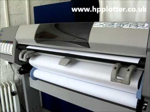 Designjet 5000/5500 Series - Load paper/media roll on your printer