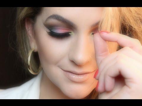 Maquiagem com 6 cores por Alice Salazar