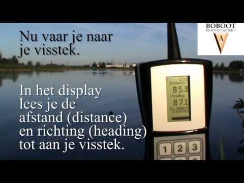 Voerboot GPS systeem van Boboot/ Baitboat gps system of Boboot